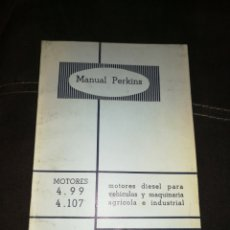 Coches y Motocicletas: MANUAL PERKINS, MOTORES DIÉSEL, 1968. EN CASTELLANO. Lote 176609528