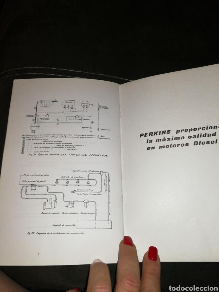 Coches y Motocicletas: PERKINS, MANUAL INSTRUCCIONES PARA SEAT 1500,AÑO 1965. - Foto 6 - 176609784