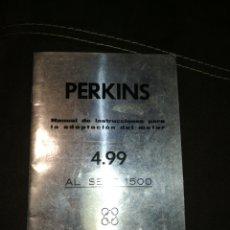 Coches y Motocicletas: PERKINS, MANUAL INSTRUCCIONES PARA SEAT 1500,AÑO 1965.. Lote 176609784