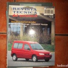 Coches y Motocicletas: REVISTA TECNICA DEL AUTOMOVIL Nº 59, 1998, CITROEN BERLINGO-PEUGEOT PARTNER 1.1I-1.4I-1.8D-1.9D. Lote 176798523