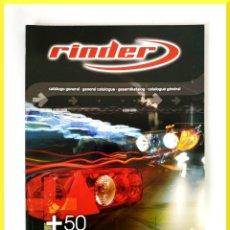 Coches y Motocicletas: RINDER CATALOGO GENERAL 2009? - DISPOSITIVOS DE ILUMINACIÓN PARA LA INDUSTRIA DE AUTOMOCIÓN. Lote 51011362