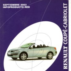 Coches y Motocicletas: CATALOGO RENAULT COUPE-CABRIOLET MEGANE INFOPRODUCTO RED SEPTIEMBRE 2003. Lote 176832669