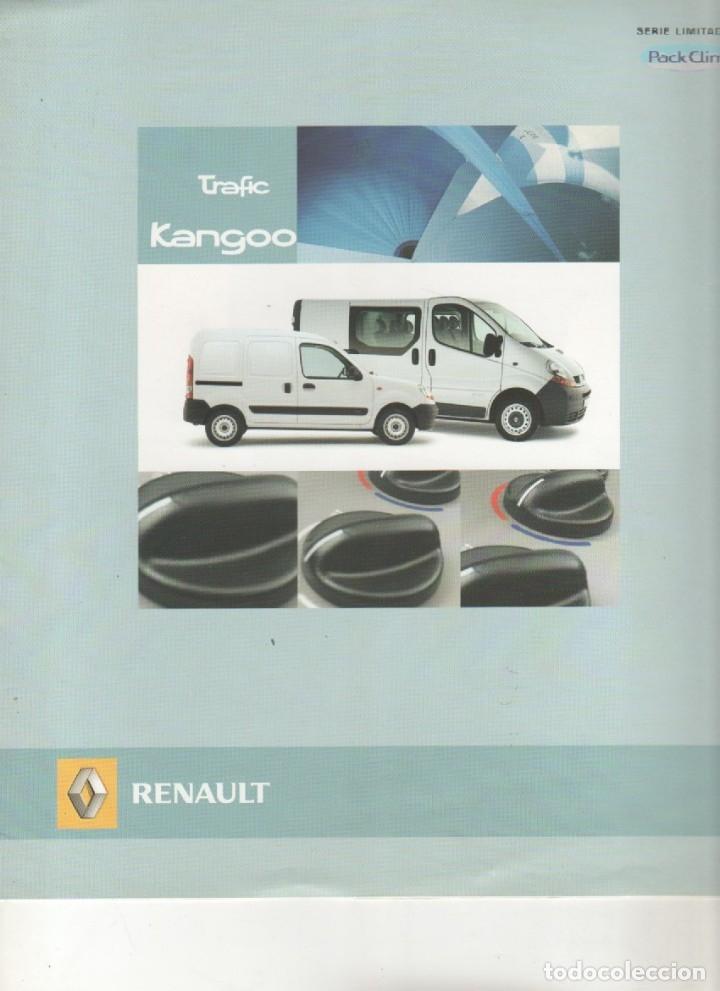 CATALOGO RENAULT TRAFIC KANGOO SERIE LIMITADA MAYO 2005 (Coches y Motocicletas Antiguas y Clásicas - Catálogos, Publicidad y Libros de mecánica)