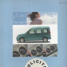 Coches y Motocicletas: CATALOGO RENAULT KANGOO ALIZE SERIE LIMITADA AGOSTO 2006. Lote 176978769