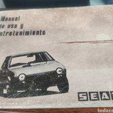 Coches y Motocicletas: MANUAL DE USO Y ENTRETENIMIENTO. SEAT RITMO. Lote 176994904