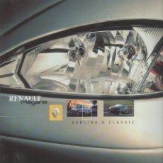 Coches y Motocicletas: CATALOGO RENAULT MEGANE BERLINA & CLASSIC JUNIO 2001. Lote 177001859