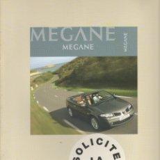 Coches y Motocicletas: CATALOGO RENAULT MEGANE COUPE-CABRIOLET SEPTIEMBRE 2006. Lote 177050468