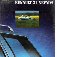 Coches y Motocicletas: CATALOGO RENAULT 21 NEVADA SEPTIEMBRE 1990. Lote 177280695