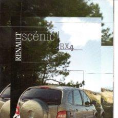 Coches y Motocicletas: CATALOGO RENAULT SCENIC RX4 JUNIO 2000. Lote 177284762