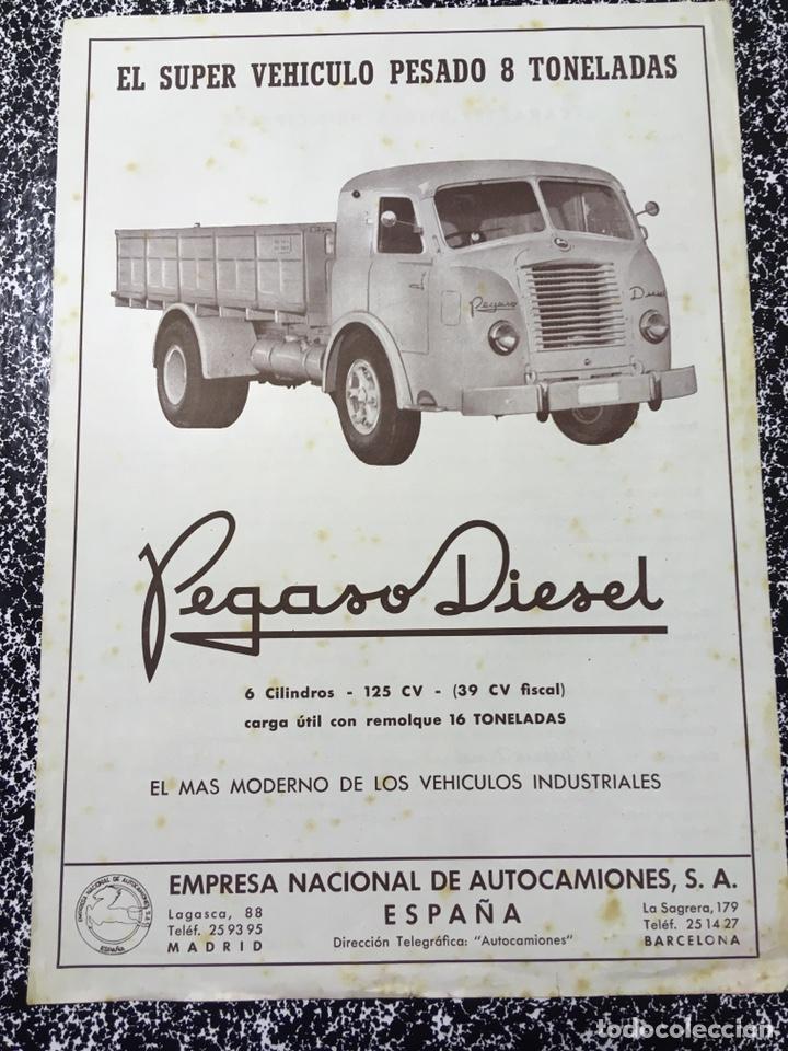 FOLLETO PROSPECTO SUPER VEHICULO PESADO 8 TONELADAS PEGASO DIESEL - ENASA (Coches y Motocicletas Antiguas y Clásicas - Catálogos, Publicidad y Libros de mecánica)