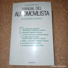 Coches y Motocicletas: MANUAL DEL AUTOMOVILISTA, FERNANDO M. CANO. Lote 177833642