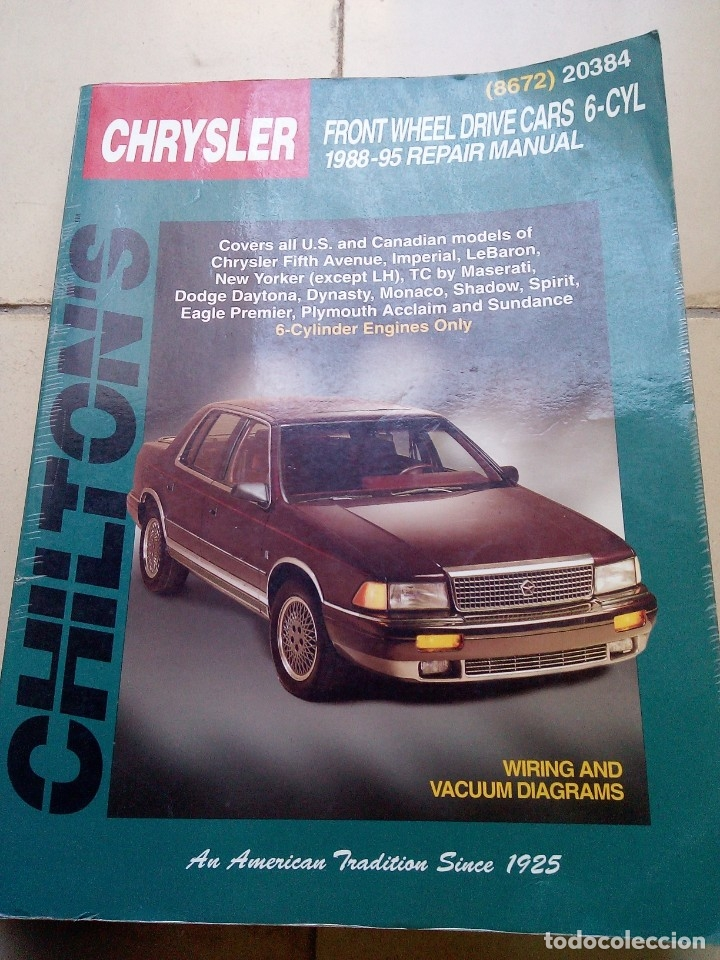 Coches y Motocicletas: Manual de taller Chrysler 1988-95 Chiltons - Foto 1 - 177977515