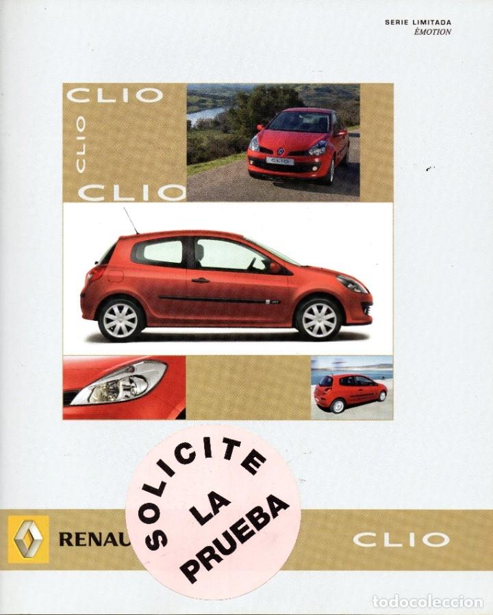RENAULT CLIO EMOTION CATALOGO MARZO 2007 (Coches y Motocicletas Antiguas y Clásicas - Catálogos, Publicidad y Libros de mecánica)