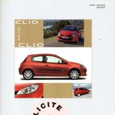Coches y Motocicletas: RENAULT CLIO EMOTION CATALOGO MARZO 2007. Lote 178070454