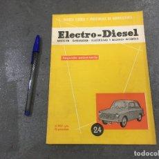 Coches y Motocicletas: REVISTA TÉCNICA Y PROFESIONAL DE MECÁNICA ELECTRO DIESEL Nº 24 JUNIO 1962 - AUSTIN A 40 MK2 DE LUXE. Lote 178364421