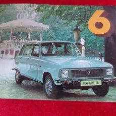 Coches y Motocicletas: FOLLETO CATÁLOGO PUBLICIDAD RENAULT 6 AÑO 1975. Lote 178595872