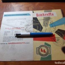 Coches y Motocicletas: LAMBRETTA CATALOGO ORIGINAL. Lote 246368590