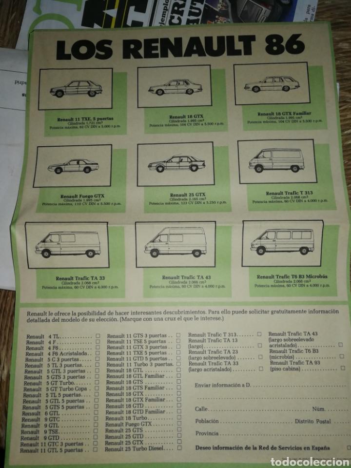 Coches y Motocicletas: FOLLETO PUBLICIDAD MODELOS RENAULT 86 - Foto 2 - 178826638