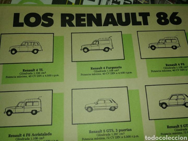 Coches y Motocicletas: FOLLETO PUBLICIDAD MODELOS RENAULT 86 - Foto 3 - 178826638