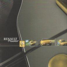 Coches y Motocicletas: CATALOGO RENAULT MASTER DICIEMBRE 2001. Lote 178828990