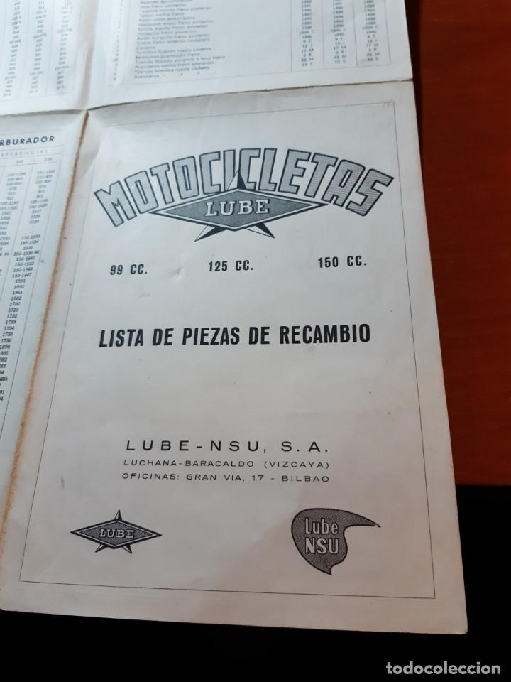 LUBE NSU (Coches y Motocicletas Antiguas y Clásicas - Catálogos, Publicidad y Libros de mecánica)