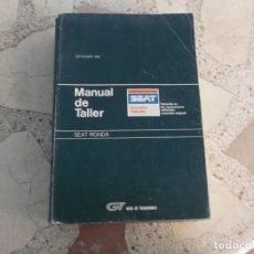 Coches y Motocicletas: GT GUIA DE TASACIONES MANUAL DEL TALLER SEAT RONDA , 1986. Lote 178858292