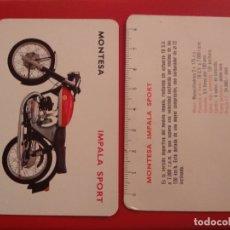 Coches y Motocicletas: TARJETA PUBLICIDAD MOTO MONTESA IMPALA SPORT - MODO CALENDARIO - A. Lote 178886743