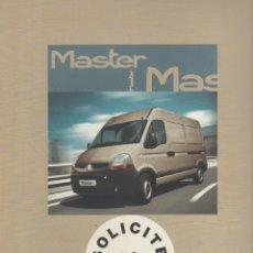Coches y Motocicletas: CATALOGO RENAULT MASTER MOVIEMBRE 2006. Lote 178905687