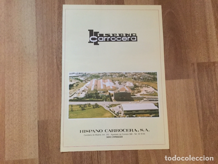CATALOGO HISPANO CARROCERA ZARAGOZA AUTOBUSES. PEGASO MERCEDES VOLVO SCANIA DAF (Coches y Motocicletas Antiguas y Clásicas - Catálogos, Publicidad y Libros de mecánica)