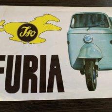 Coches y Motocicletas: FOLLETO CATÁLOGO PUBLICIDAD ORIGINAL ISO FURIA 1964 BORGWARD ISO ESPAÑOLA S.A.. Lote 178939517