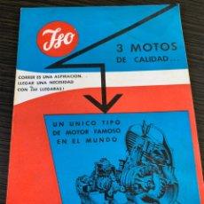 Coches y Motocicletas: FOLLETO CATÁLOGO ORIGINAL BORGWARD ISO ESPAÑOLA S.A. GRAN TURISMO LUJO METEOR 125 2HP MOTOCICLETA. Lote 178939945