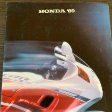 Coches y Motocicletas: CATÁLOGO DE 1989 DE GAMA MOTOCICLETAS HONDA 89. Lote 178951757