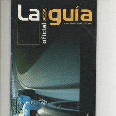 Coches y Motocicletas: GUIA OFICIAL FORMULA F1 AÑO 2005 (RENAULT F1 TEAM) FERNANDO ALONSO. Lote 178985697