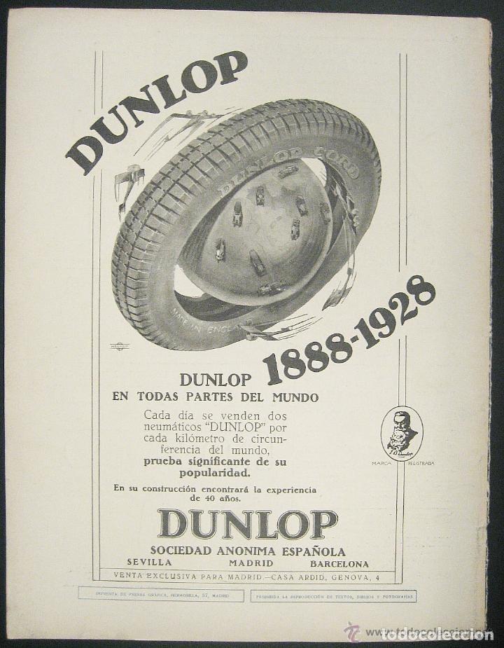 Coches y Motocicletas: RARO CENICERO NEUMATICOS DUNLOP CORD CASA ARDID MADRID LATON GRABADO ORIGINAL AÑOS 20 - Foto 5 - 179100326
