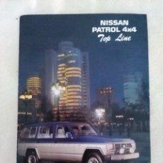 Coches y Motocicletas: FOLLETO COCHE NISSAN PATROL 4X4 TOP LINE. AÑO 1989. Lote 179154928