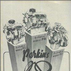 Coches y Motocicletas: ANUNCIO * MOTORES PERKINS DIESEL * AÑO 1961. Lote 179210598