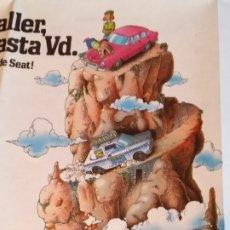 Coches y Motocicletas: FOLLETO DESPLEGLABLE VACACIONES SOBRE RUEDAS SEAT 1981. Lote 179223293