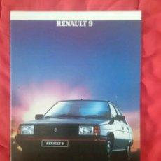 Coches y Motocicletas: CATÁLOGO RENAULT 9 . UK . 1984. Lote 179250872