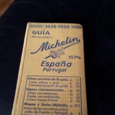 Coches y Motocicletas: GUIA MICHELIN ESPAÑA PORTUGAL 1936. MUY BIEN CONSERVADA. Lote 179314345