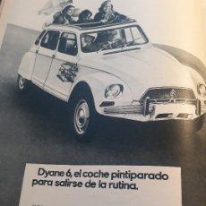 Coches y Motocicletas: PUBLICIDAD DYANE 6 AÑO 1971 - 33 X 26 CM . Lote 180011983