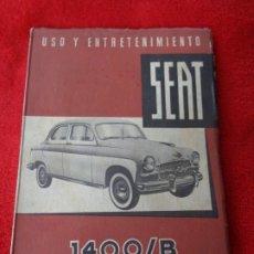 Coches y Motocicletas: MANUAL SEAT 1400 / B - USO Y ENTRETENIMIENTO (1959, MUY BIEN CONSERVADO). Lote 180345496
