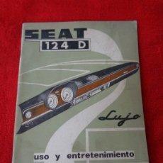 Coches y Motocicletas: CATALOGO COCHE SEAT 124 D LUJO - USO Y ENTRETENIMIENTO 1ª EDICION 1971. Lote 180416356