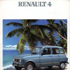 Coches y Motocicletas: CATALOGO RENAULT 4 MARZO 1990. Lote 180462140