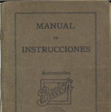 Coches y Motocicletas: MANUAL DE INSTRUCCIONES - AUTOMÓVILES BUICK - MODELOS DE SEIS CILINDROS - 1920. Lote 180513003
