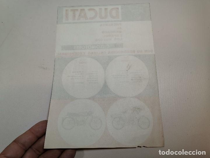 Coches y Motocicletas: folleto publicitario ORIGINAL PUBLICIDAD CICLOMOTORES DUCATI SPORT Y PIUMA-BARCELONA -REF-ZZ - Foto 2 - 192654628