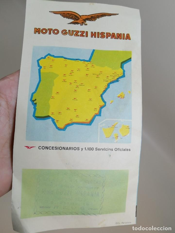 Coches y Motocicletas: folleto publicitario DESPLEGABLE PUBLICIDAD MOTO GUZZI HISPANIA 49 CONCESIONARIO REUS -REF-ZZ - Foto 4 - 181421852