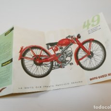 Coches y Motocicletas: FOLLETO PUBLICITARIO DESPLEGABLE PUBLICIDAD MOTO GUZZI HISPANIA 49 CONCESIONARIO REUS -REF-ZZ. Lote 181421852