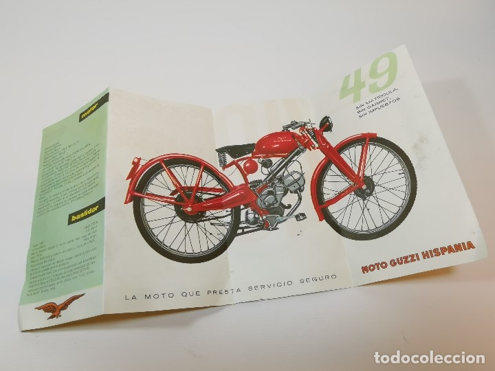 Coches y Motocicletas: folleto publicitario DESPLEGABLE PUBLICIDAD MOTO GUZZI HISPANIA 49 CONCESIONARIO REUS -REF-ZZ - Foto 6 - 181421852