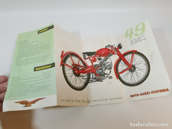 Coches y Motocicletas: folleto publicitario DESPLEGABLE PUBLICIDAD MOTO GUZZI HISPANIA 49 CONCESIONARIO REUS -REF-ZZ - Foto 8 - 181421852