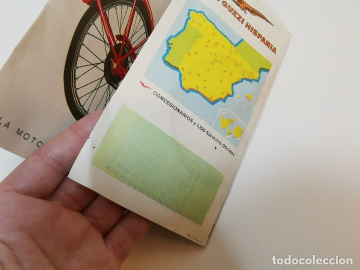 Coches y Motocicletas: folleto publicitario DESPLEGABLE PUBLICIDAD MOTO GUZZI HISPANIA 49 CONCESIONARIO REUS -REF-ZZ - Foto 10 - 181421852